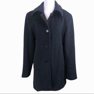 Marvin Richards Black Wool Cashmere Blend Coat